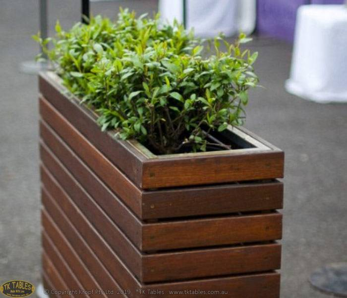 Wooden Planter Box Screen Dividers