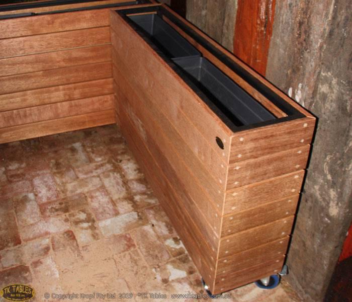 Wooden Planter Box Screen Dividers