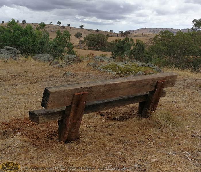 Anchored Garden Bench Seat