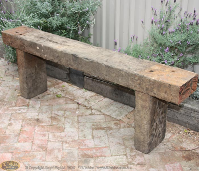 Sleeper Wooden Bench Seat