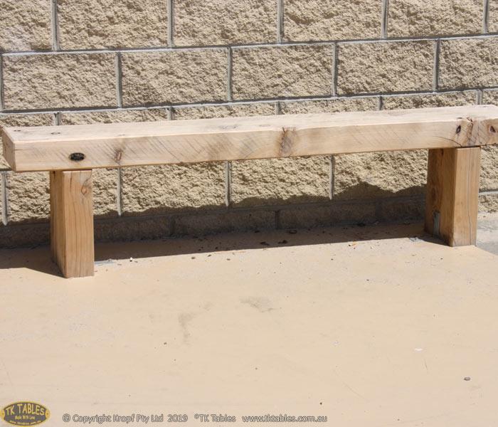 Sleeper Wooden Bench Seat