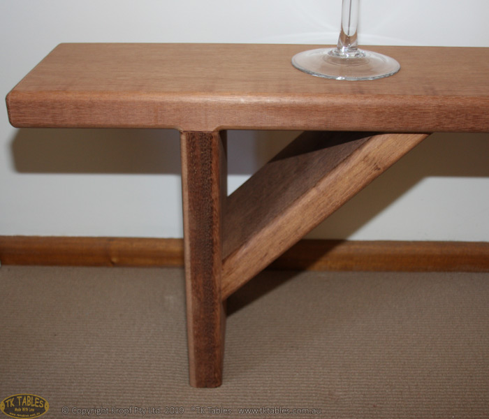 Conventional Wooden Bench Seat