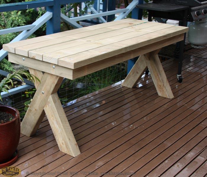 Cross Legged Wooden Table
