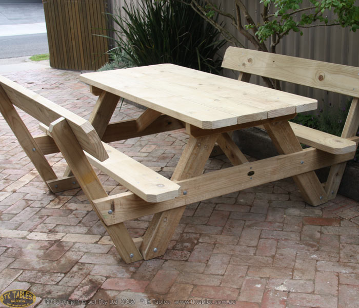 Conventional Picnic Table with Backrest