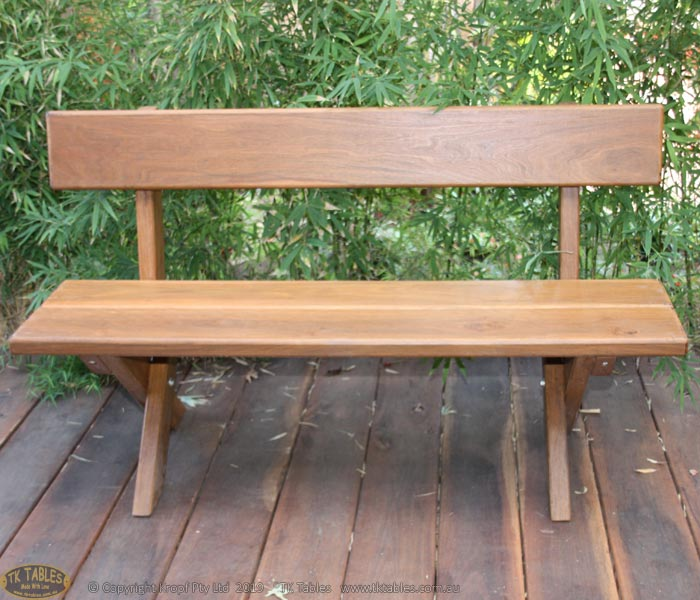 Cross Legged Standard Bench Seat With Back Support