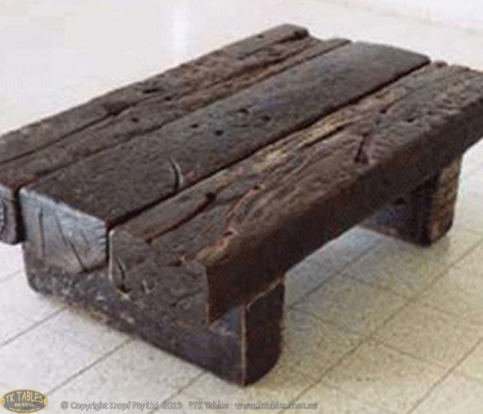 Solid Rustic Wooden Coffee Table