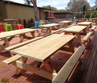 Conventional Wooden Picnic Table