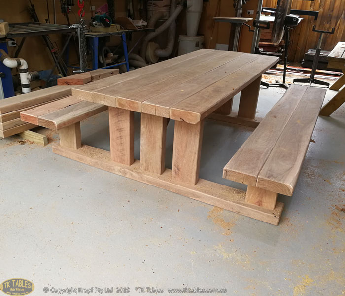 Compact T Design Outdoor Timber Furniture Table