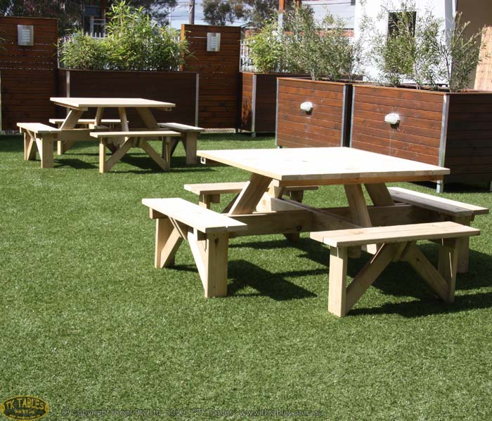 Square or Round Outdoor Timber Furniture
