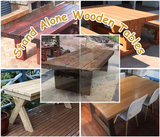 Stand Alone Wooden Tables